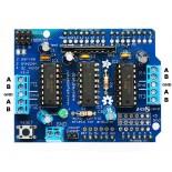 Модуль управления двигателями L293D (motor control shield)