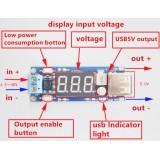 Блок питания, понижающий модуль питания 6.5v12V ~ 40V до 5V + вольтметр