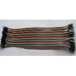 Соединительные кабели 20см 40шт мама-папа
