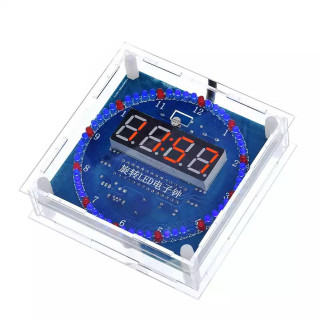 Набор для сборки LED часов с будильником на модуле DS1302