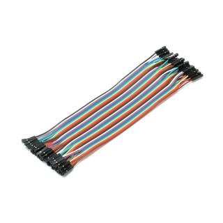 Соединительные кабели 20см 40шт мама-мама